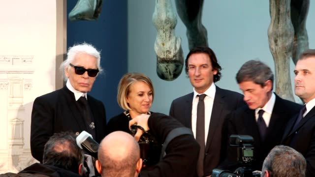 'Fendi for Fountains' Press Conference at Campidoglio on January 28 2013 in Rome Italy