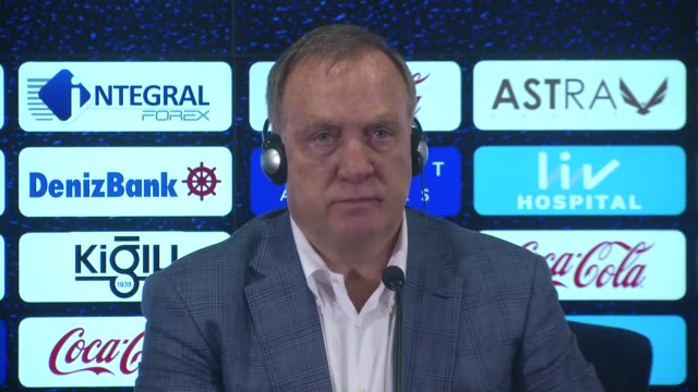 fenerbahce's head coach dick advocaat speaks during a press conference following the uefa europa league play-offs first leg soccer match between... - playoffs stock videos & royalty-free footage