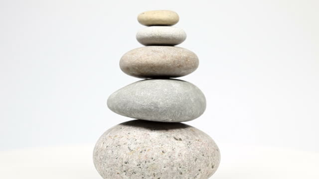 fengshui スタックの石、回転 - 石材点の映像素材/bロール