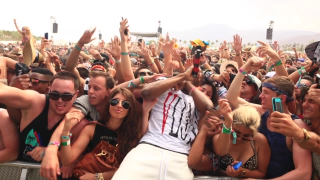 ASAP ferg Crowd at 2014 Coachella Valley Music And Arts Festival Weekend 2 on April 18 2014 in Indio California