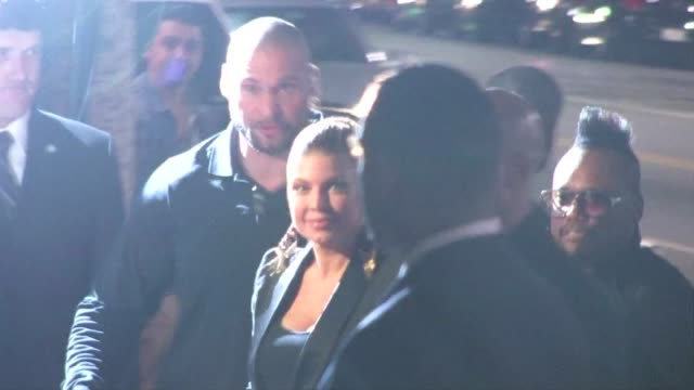 fergie and apldeap at the black eyed peas experience launch party in hollywood 11/21/11 - the black eyed peas band stock videos and b-roll footage