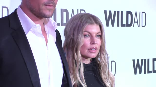 fergie and josh duhamel at the wildaid 2015 gala at the montage hotel in beverly hills at celebrity sightings in los angeles on november 07 2015 in... - fergie duhamel stock videos and b-roll footage