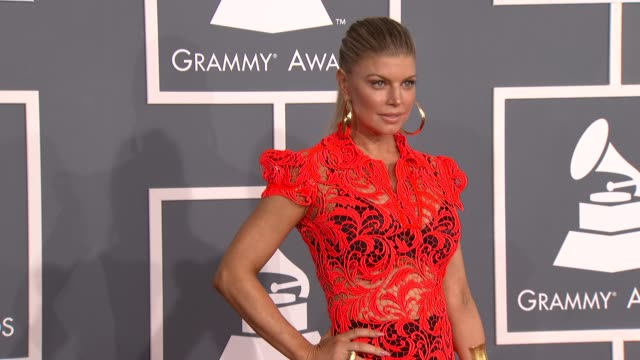 Fergie at 54th Annual GRAMMY Awards Arrivals on 2/12/12 in Los Angeles CA