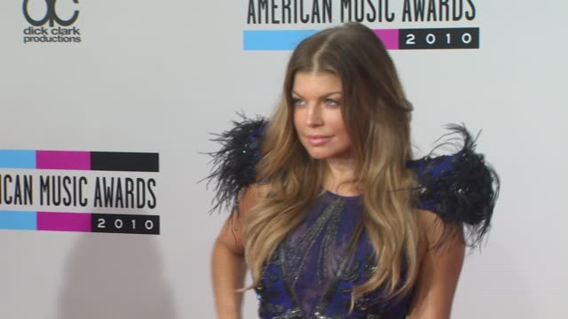 fergie at the 2010 american music awards arrivals at los angeles ca - fergie duhamel stock videos and b-roll footage