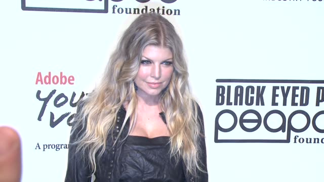 fergie at the 5th annual black eyed peas peapod foundation benefit concert at los angeles ca - benefit concert stock videos & royalty-free footage