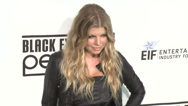 fergie at the 5th annual black eyed peas peapod foundation benefit concert at los angeles ca - the black eyed peas band stock videos and b-roll footage