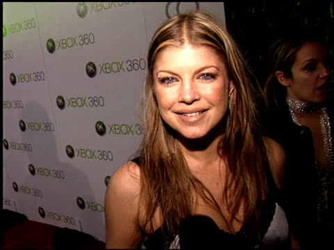 fergie at the xbox 360 launch party on november 16 2005 - xbox stock videos & royalty-free footage