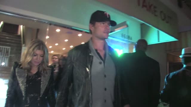 fergie josh at duhamel at chin chin in west hollywood at the celebrity sightings in los angeles at los angeles ca - fergie duhamel stock videos and b-roll footage