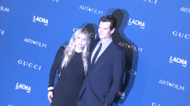 fergie josh duhamel at lacma hosts 2013 art film gala honoring david hockney and martin scorsese presented by gucci in los angeles ca - fergie duhamel stock videos and b-roll footage