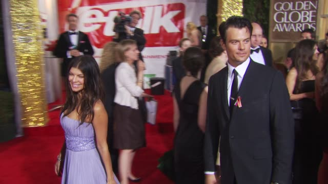 fergie josh duhamel at the 67th annual golden globe awards arrivals part 1 at beverly hills ca - fergie duhamel stock videos and b-roll footage