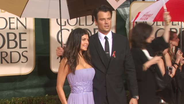 fergie josh duhamel at the 67th annual golden globe awards arrivals part 4 at beverly hills ca - fergie duhamel stock videos and b-roll footage