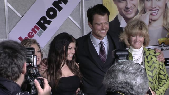 fergie josh duhamel at the 'when in rome' premiere at hollywood ca - fergie duhamel stock videos and b-roll footage