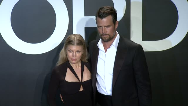 fergie josh duhamel at tom ford presents his autumn/winter 2015 womenswear collection at milk studios on february 20 2015 in los angeles california - fergie duhamel stock videos and b-roll footage