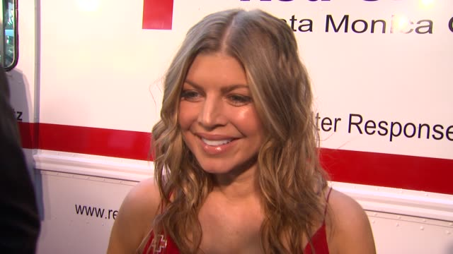fergie on what it means to her that her husband is being honored, why she supports the american red cross, why giving back is important to her, what... - american red cross stock videos & royalty-free footage