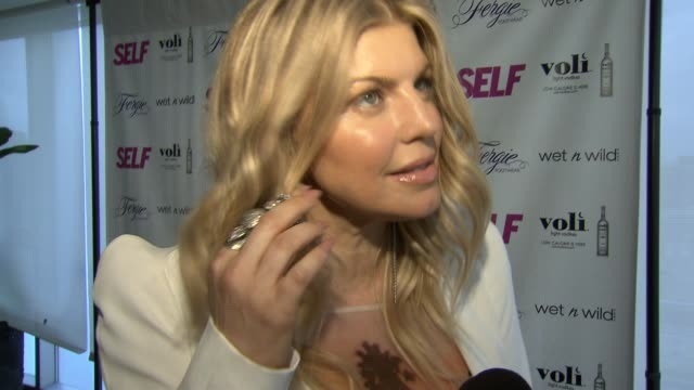 fergie talks about her outfit at self magazine celebrates the july music issue with cover star fergie at the hotel on rivington penthouse on june 05... - penthouse magazine stock videos & royalty-free footage