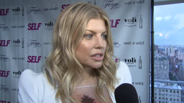 fergie talks about self magazine at self magazine celebrates the july music issue with cover star fergie at the hotel on rivington penthouse on june... - penthouse magazine stock videos & royalty-free footage