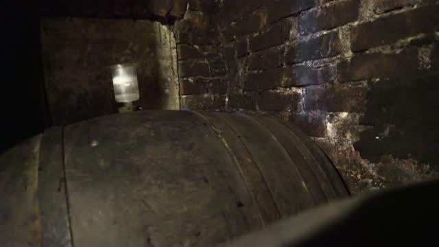 Fermentation barrel bung releasing pressure
