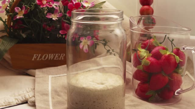 a fermented dough swelling in a bottle - yeast stock videos & royalty-free footage