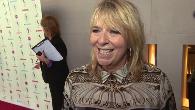 stockvideo's en b-roll-footage met interview fern britton on the importance of the awards at women of the year lunch and awards at intercontinental park lane hotel on october 13 2014... - fern britton