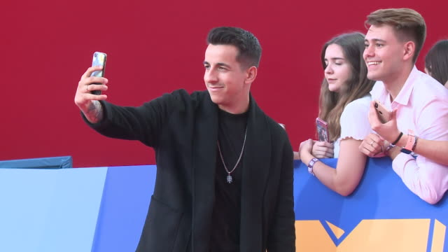 fernando daniel attends the mtv emas 2019 at fibes conference and exhibition centre in seville - mtv europe music awards stock videos & royalty-free footage