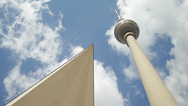 Fernsehturm Berlin with dynamic Clouds