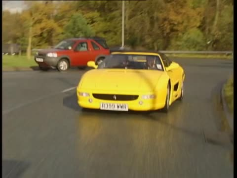 ferrari 355 spyder 1998 - test drive stock videos & royalty-free footage