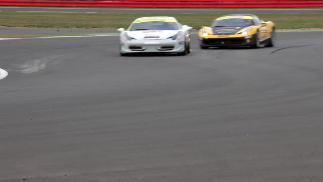 ferrari 458 trofeo pirelli coppa shell at silverstone racetrack, england. - silverstone stock videos & royalty-free footage