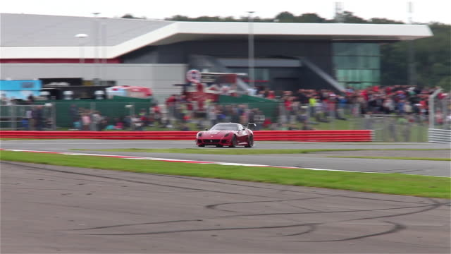 ferrari 599xx no45 at silverstone racetrack, england. - silverstone stock videos & royalty-free footage