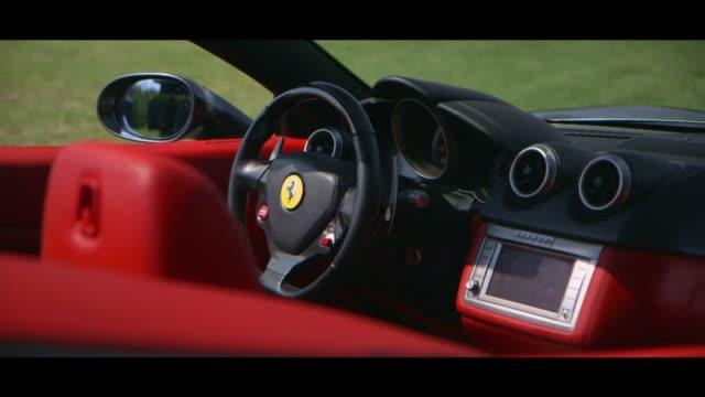 vidéos et rushes de ferrari - dashboard - intérieur de véhicule