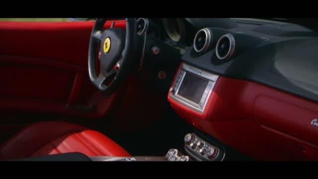 ferrari - interior - matte image technique stock videos & royalty-free footage