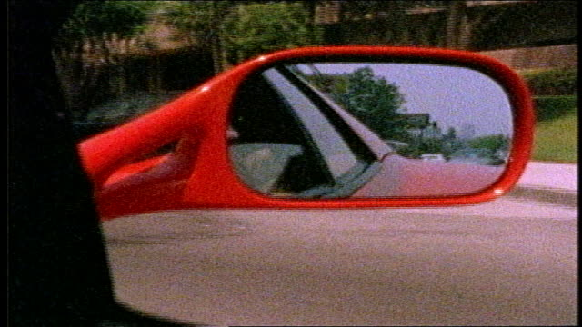 ferrari mirror while driving in busy - editorial stock videos & royalty-free footage
