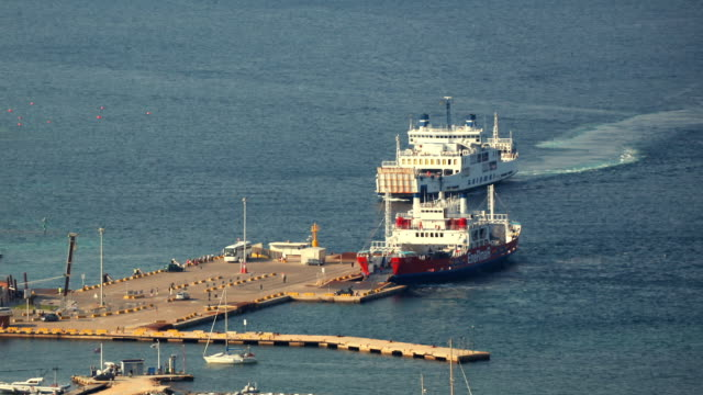 T/L WS HA Ferries in port / Sardinia, Italy