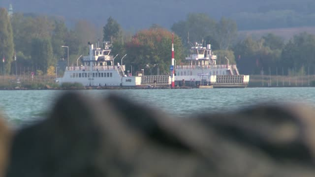 ferries on balaton lake - passenger craft stock videos & royalty-free footage