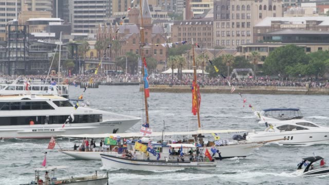 Ferries race across Sydney harbour Sydney Ferrython on January 26 2017 in Sydney Australia Australia Day formerly known as Foundation Day is the...