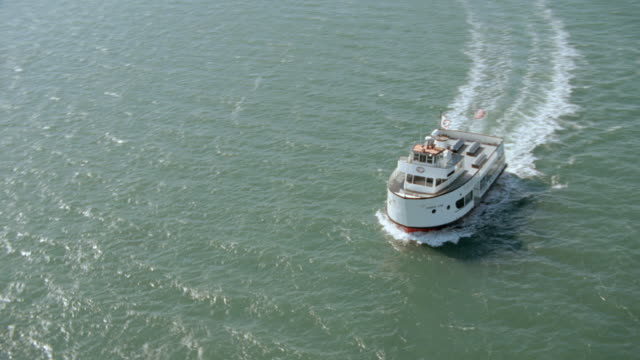 ferries travel in the san francisco bay. - san francisco bay stock videos & royalty-free footage