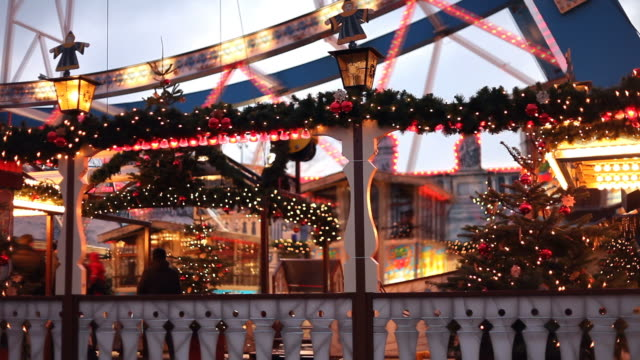 Ferris wheel at Christmas - close up
