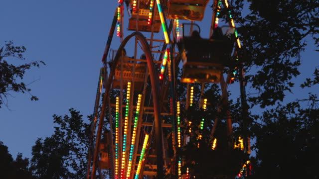 MS Ferris wheel at dusk / American Fork City, Utah, USA