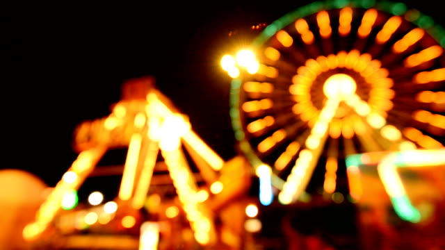 ferris wheel at night - circus stock videos & royalty-free footage