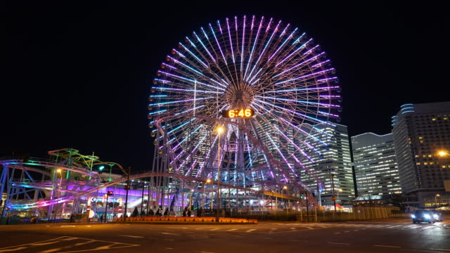 Ferris wheel at yokohama city
