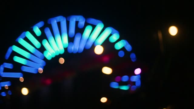 Ferris Wheel Defocused at Night
