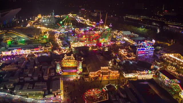 Ferris wheel downwards in Parish fair /amusement park
