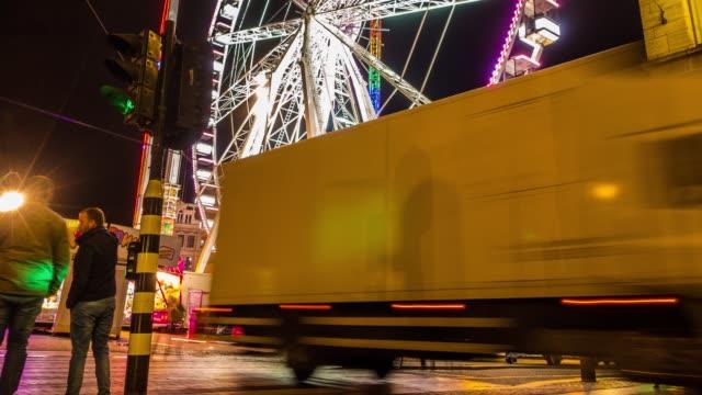 vídeos y material grabado en eventos de stock de ferris wheel hyperlapse - big wheel