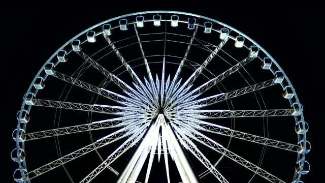 Ferris Wheel In Night Sky Time lapse