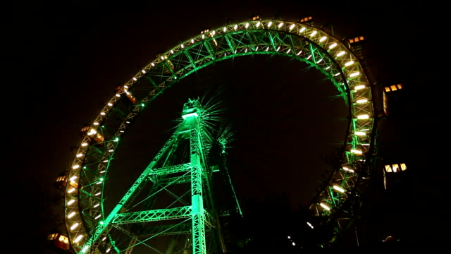 ferris wheel in prater park in vienna (hd) - prater park stock videos & royalty-free footage