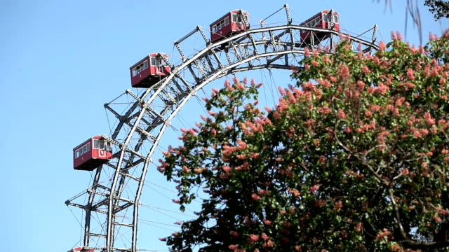 ferris wheel in prater park, vienna - prater park stock videos & royalty-free footage