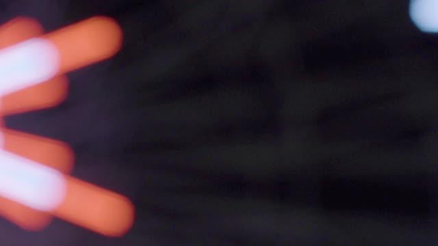 Ferris wheel lights at night