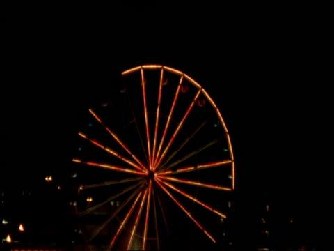 Ferris Wheel lit up at night, Liverpool