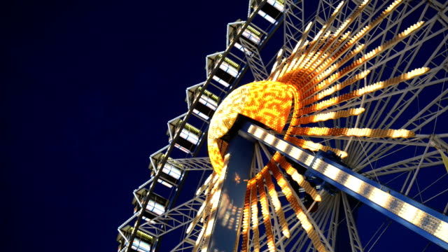 ferris wheel, realtime, hd - fairground stock videos and b-roll footage