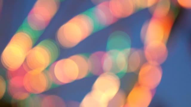夜の観覧車の回転 - 目が回る点の映像素材/bロール