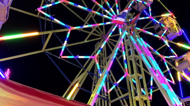 ferris wheel - fairground stock videos and b-roll footage